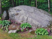 The actual rock formation named Jacob's Pillow
