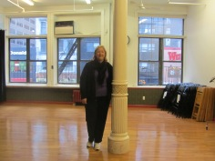 Cathy standing in the exact space of the original Pilates Studio, 939 Eighth Avenue