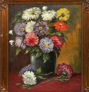 Still life Flowers by Roman Kryzanowsky